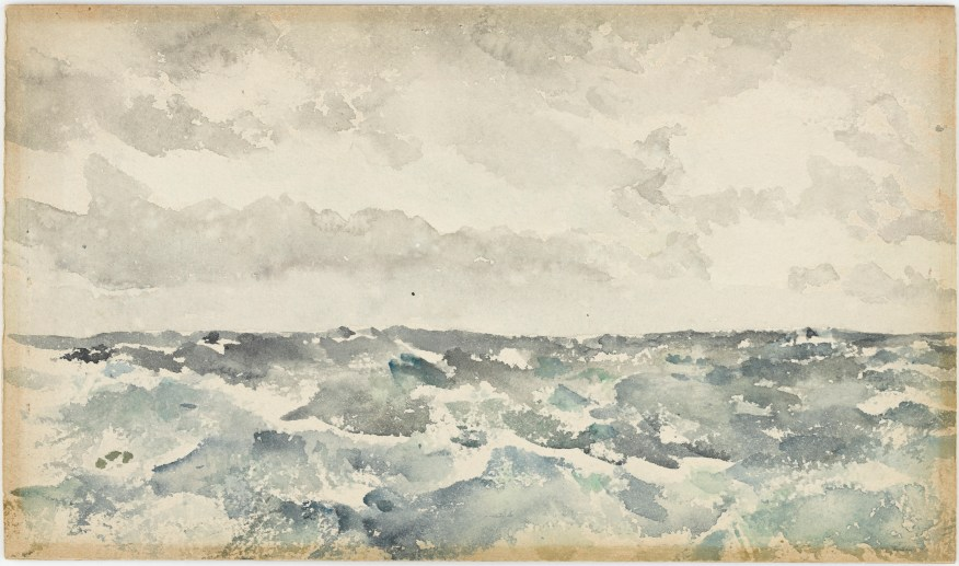 """James McNeill Whistler's watercolor """"Blue and Silver: Chopping Channel"""""""