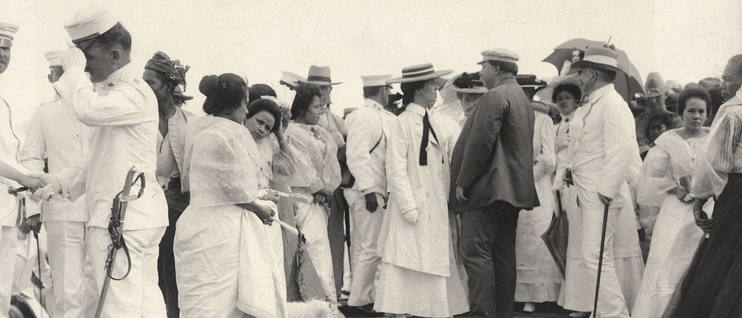 Alice Roosevelt and William H. Taft in the Philippines. August, 1905