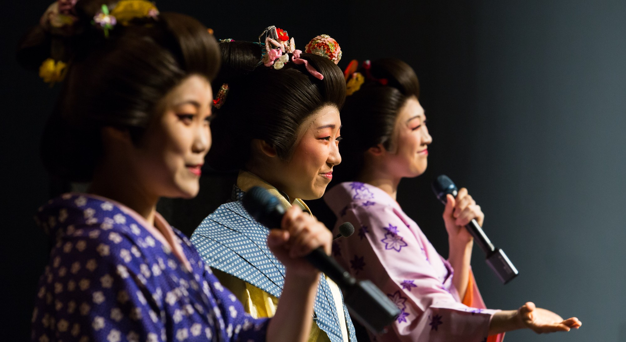 Performers from Utamaro, the musical