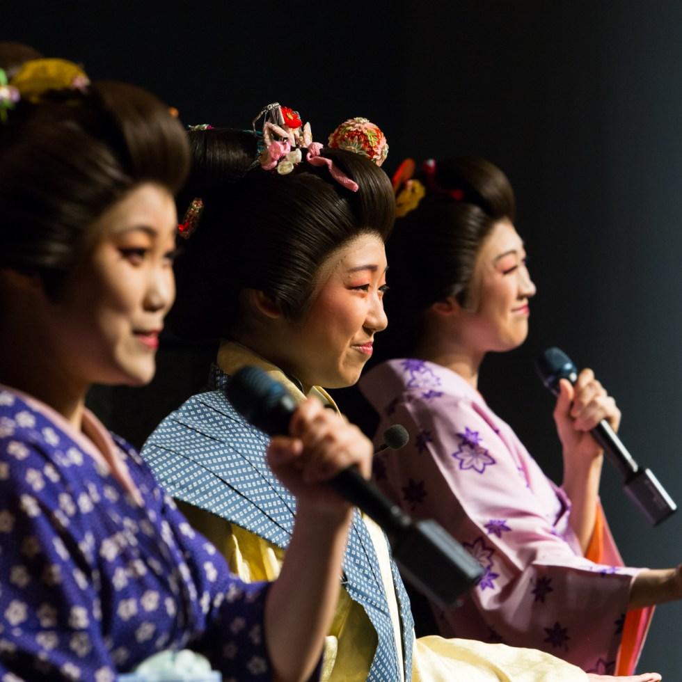Performers from Utamaro, the musical