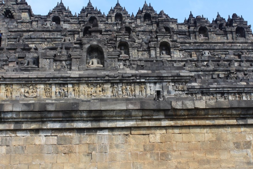 The terraced monument of Borobudur