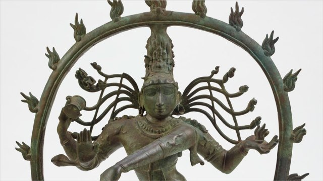 detail of the Shiva Nataraja sculpture