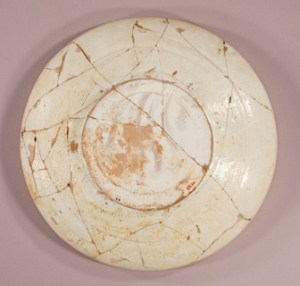 Back of dish F1953.70 before treatment