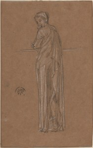drawing of a Draped Figure Standing