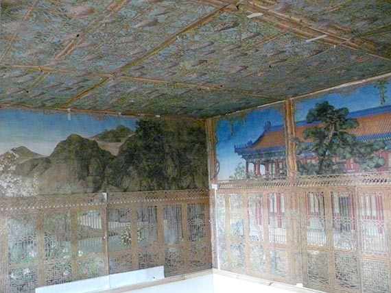 A model of the interior mural paintings in Emperor Qianlong's Juan Qin Zhai in the Forbidden City
