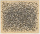 Concentrated pencil stipples on yellowish paper.