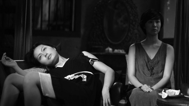 Still from a bw film