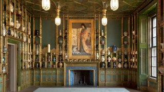 detail, the Peacock Room featuring The Princess painting