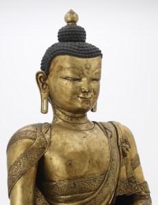 close up of buddha head