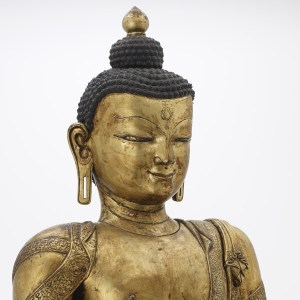 gilt copper buddha