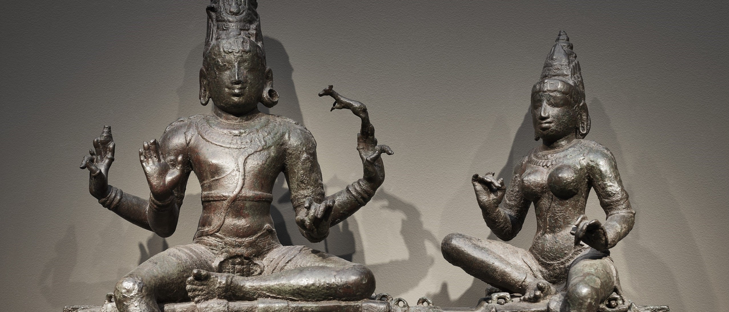 Detail photo, Shiva and Uma (Somaskanda); Figure; Chola dynasty, 12th century; Bronze; India, Tamil Nadu; Arthur M. Sackler Gallery; S1987.907a-e