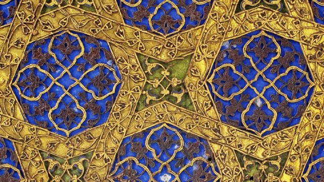 Detail inmage, Single-volume Qur'an; Copied by Yaqut al-Musta'simi Iraq, Baghdad, Il-Khanid period, 1286–87; Ink, color, and gold on paper; Museum of Turkish and Islamic Arts, Istanbul, TIEM 507.