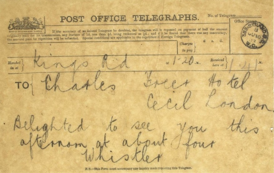 Telegram - yellowed paper.