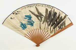 Photo of Frogs and Tadpoles; Qi Baishi (1864–1957); China, Modern period, 1944; Folding fan; ink and color on paper; Gift of Robert Hatfield Ellsworth; Freer Gallery of Art F2017.1