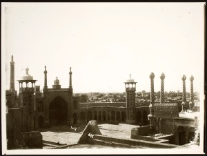 Hazrat-i Ma'suma Shrine Complex: View of Courtyard