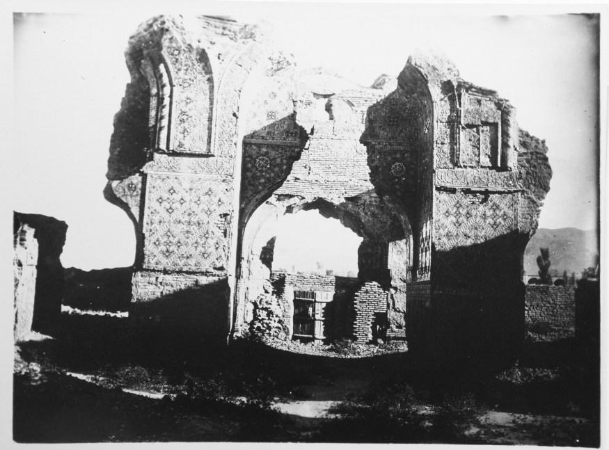 Ruins of Masjid-i Muzaffariyya: Interior View toward the Entrance