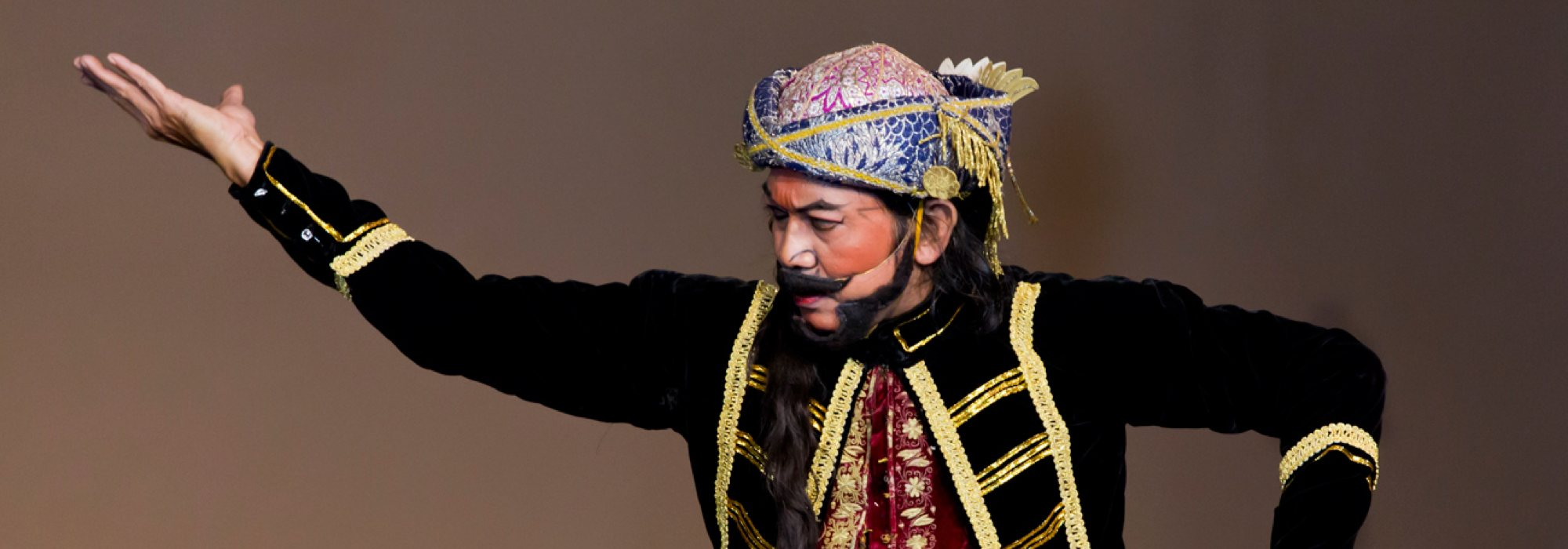 Performer in costume.