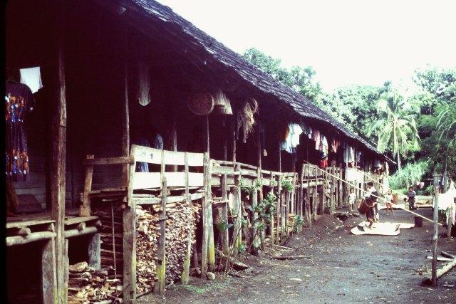 A longhouse.