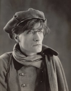 Black and white photographic portrait of Antonin Artaud