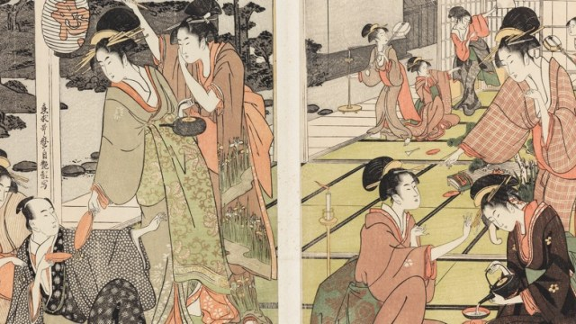 Detail of The Story of the Chūshingura Parodied by Famous Beauties: A Set of Twelve Prints