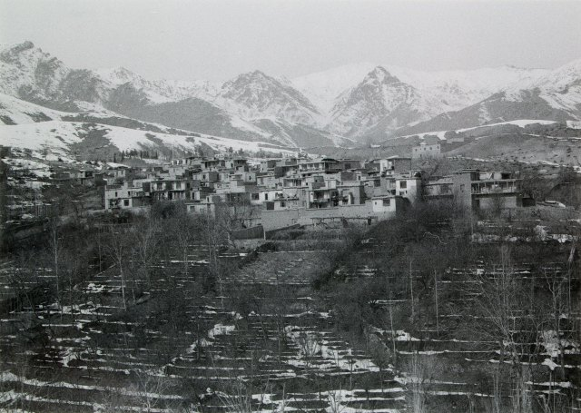 Valley and surrounding mountains