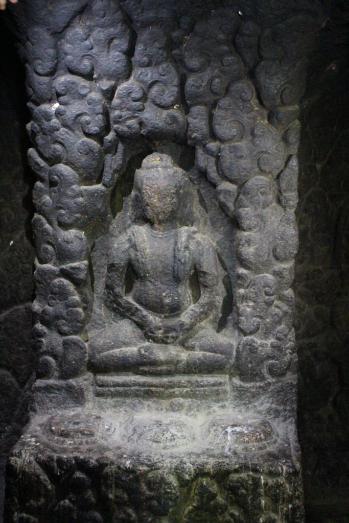 Relief showing ascetic meditating
