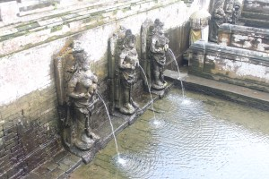 Bathing pool with sculptures of goddesses pouring water from pots
