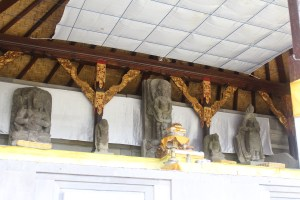 Old sculptures in a newer shrine