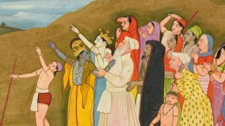 Krishna and his family admire a solar eclipse  Himachal