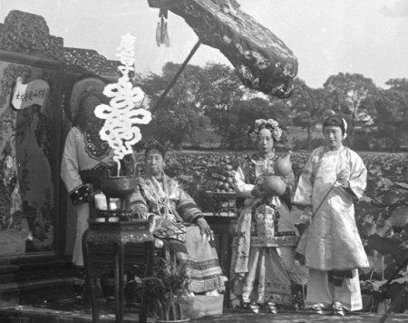 group of women in garden