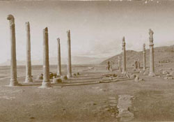 pillars standing at site of ruins
