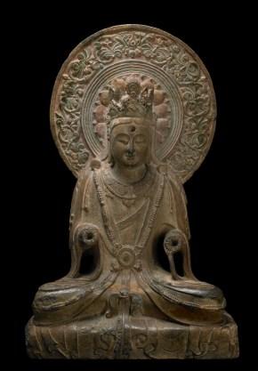 Seated Bodhisattva figure