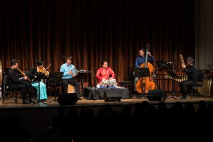 Silkroad musicians performing a new composition at the Freer|Sackler.