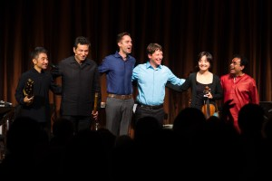Silkroad musicians taking a bow after their performance at the Freer|Sackler.