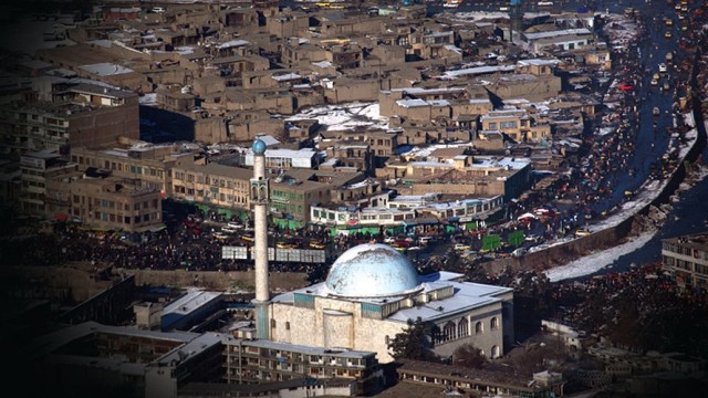Aerial view of Kabul