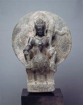 Stone sculpture of Skanda