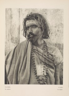 Photogravure of an ascetic