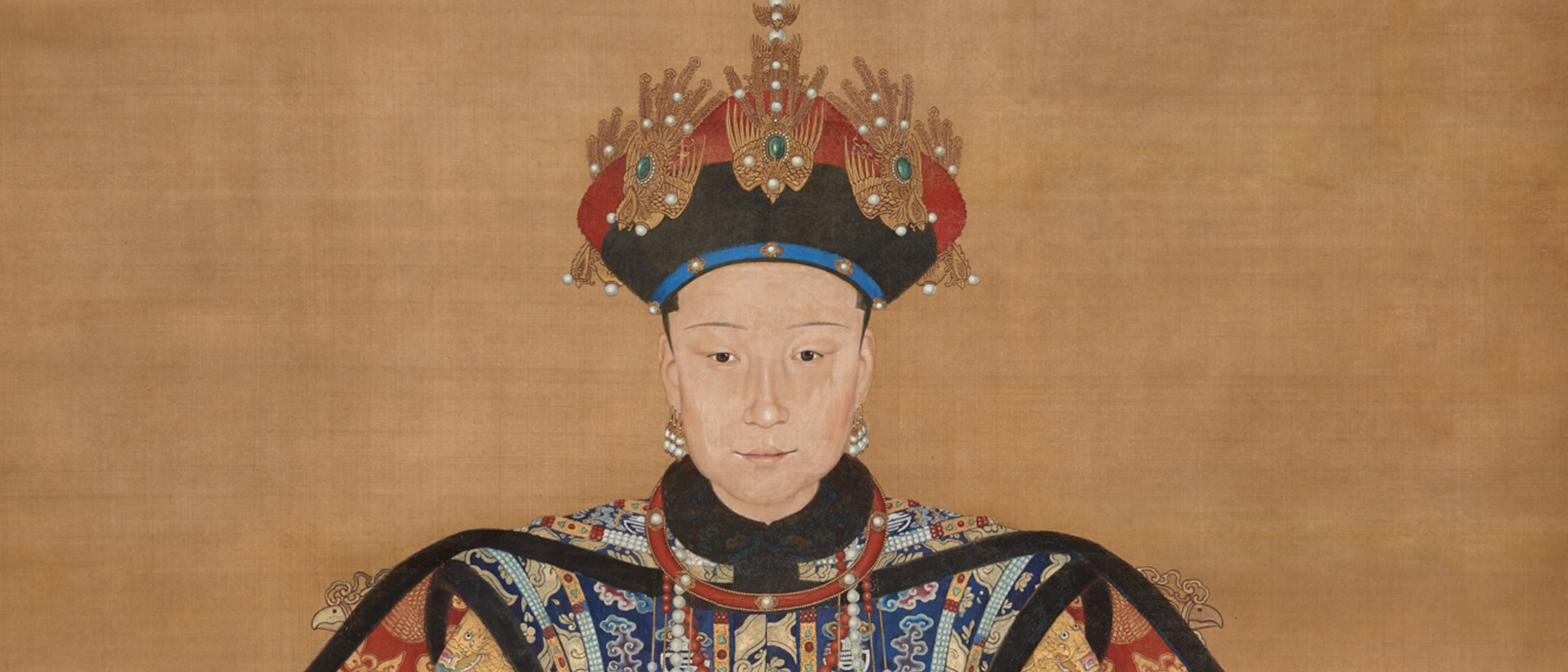 detail from a painting of empress xiaoxian