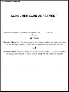 Loan Agreement Template  Mutual Agreement Between Two Parties
