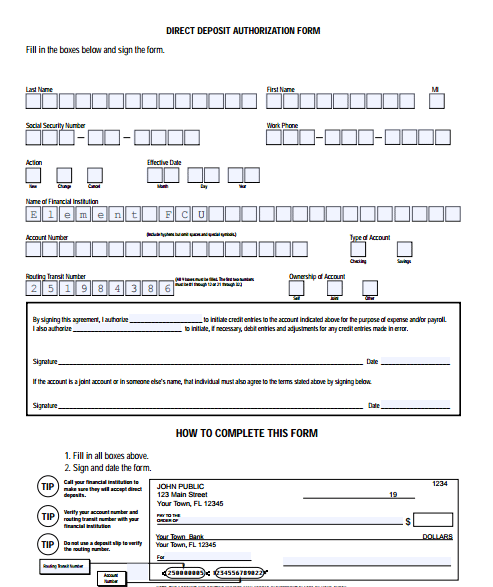 generic direct deposit form 5 Generic Direct Deposit Form Templates - formats, Examples in ...
