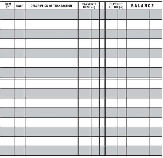 Printable Check Register Templates  Formats Examples In Word Excel