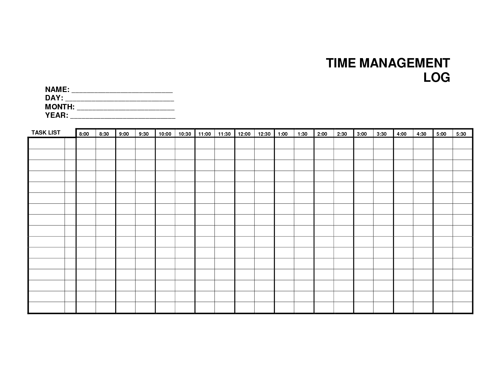 5 Log Sheet Templates