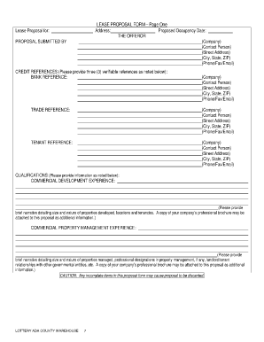 Proposal Form Template 641