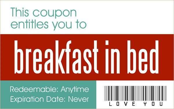 Coupon Layouts. Sample Printable Love Coupon Template 15+ Coupon