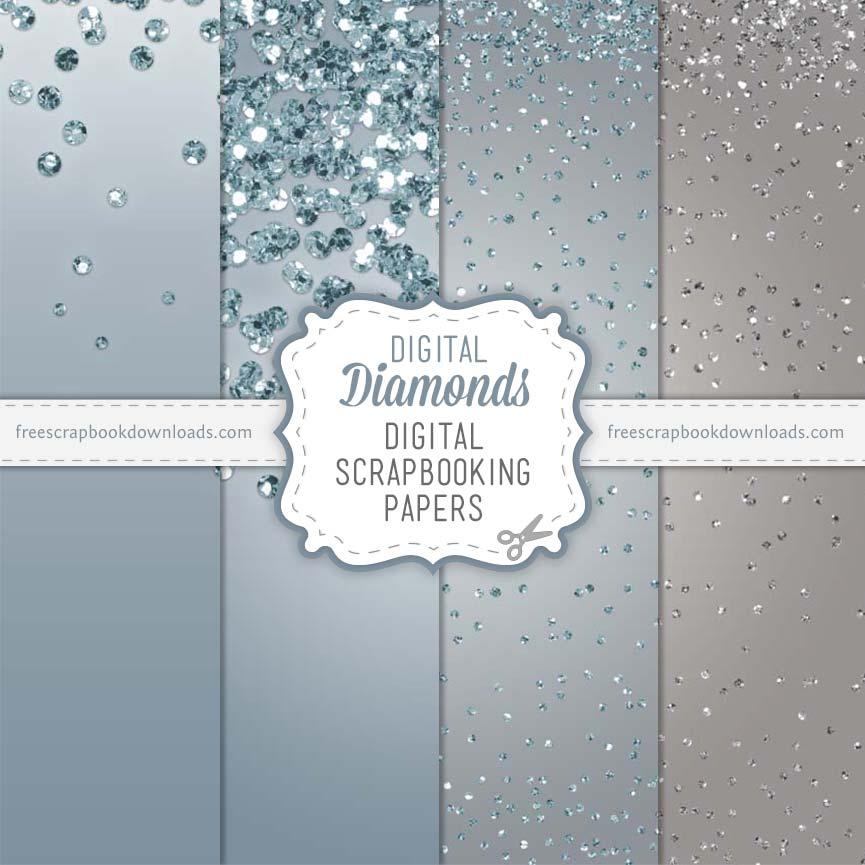 Digital Diamonds Scrapbook Papers Free Scrapbook Downloads