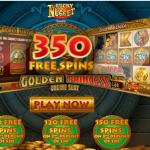 350 Free Spins on Golden Princess Slot