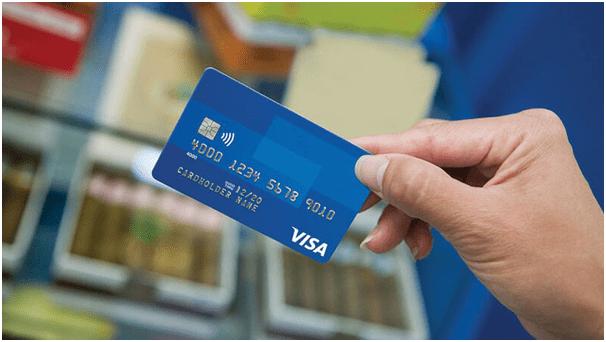 Credit card deposit at online casino