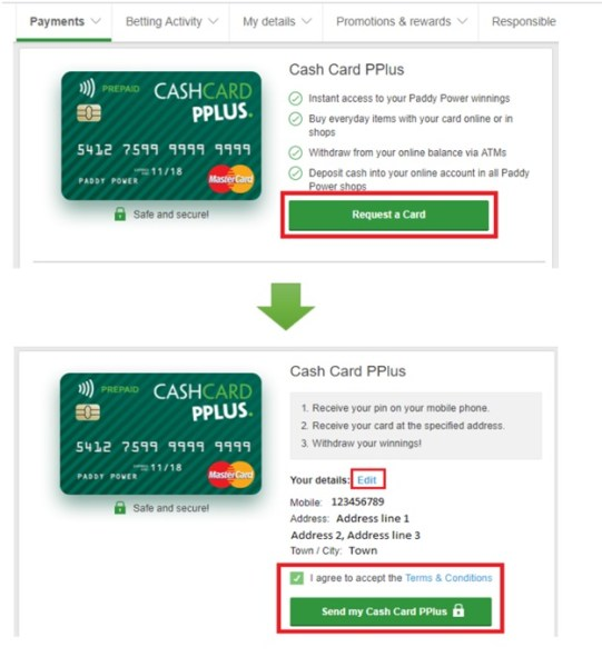 How to get Paddy Power Cash Card
