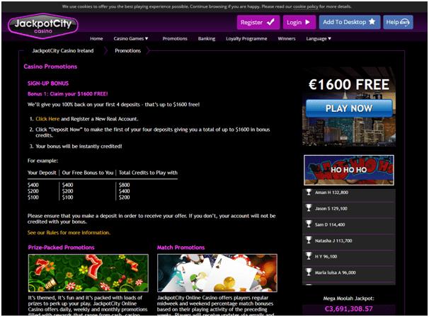 Jackpot city casino latest bonus