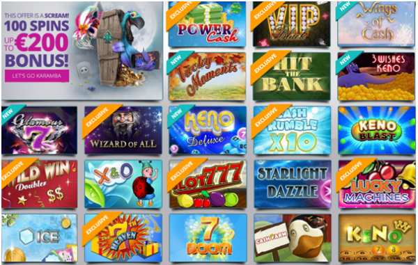 scratch card games at Karamba casino